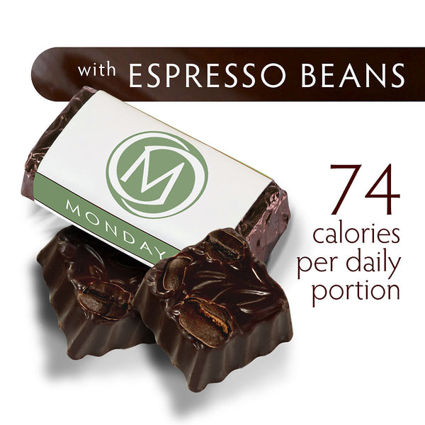 DARK SECRET chocolate with Espresso Beans - Two 7 day boxes product detail
