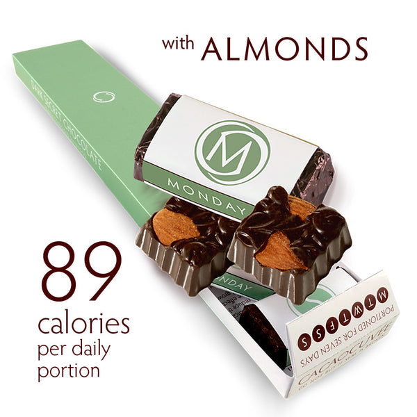 DARK SECRET chocolate SUPERFOOD SUPERPACK - 7 Day Box with almonds