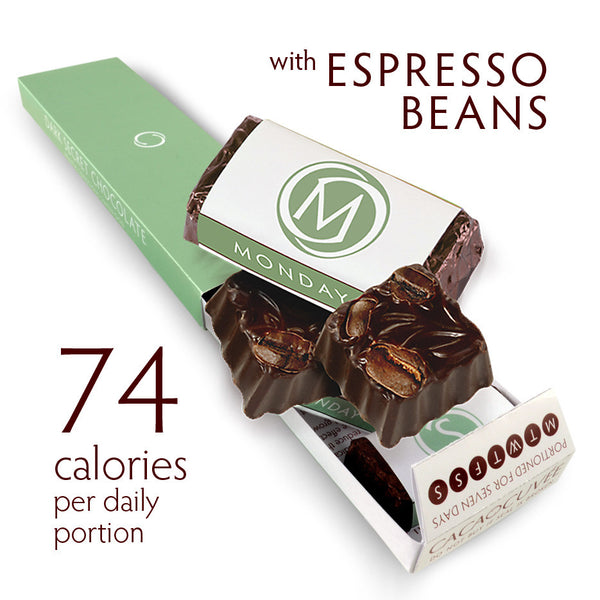 DARK SECRET chocolate SUPERFOOD SUPERPACK - 7 Day Box with Espresso Beans