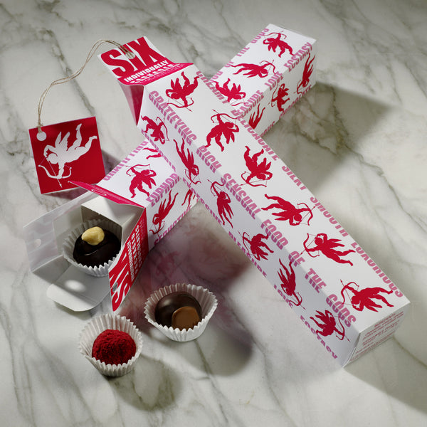 Holiday SIX pack - Christmas gift box with 6 individually boxed truffles