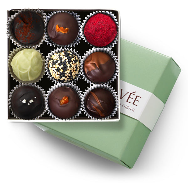 fresh chocolate truffles 9pc box