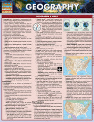 Geography Laminated Reference Guide