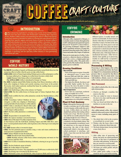 Coffee - Craft & Culture Laminated Reference Guide