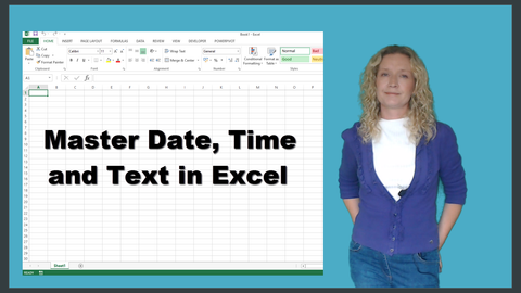 Preview of Master Text, Date and Time in Excel