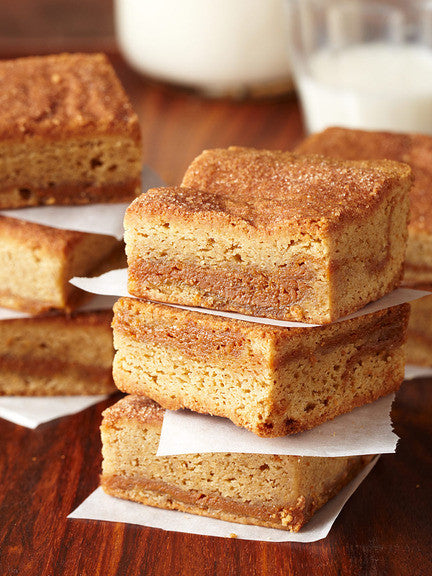 CINNAMON DULCE DE LECHE BLONDIES