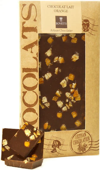 Dark Chocolate Bar w/ Orange Peel by Bovetti