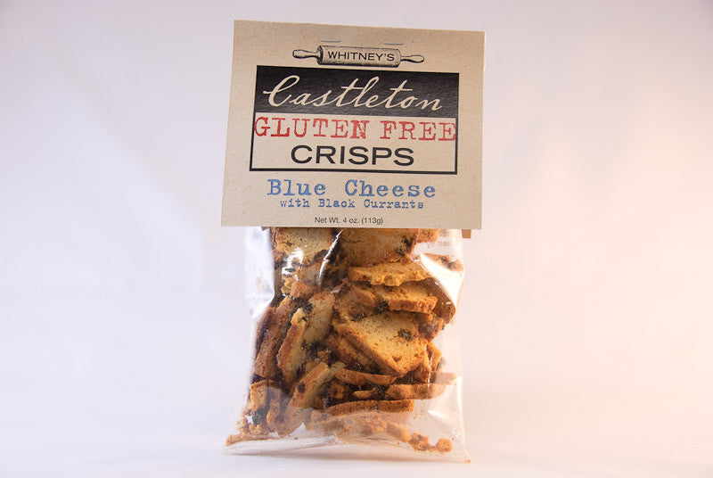 Blue Cheese & Black Currant Crisps by Castleton