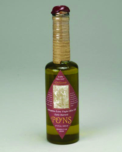 Unfiltered Extra Virgin Olive Oil By Pons Mas Portell & Romulo