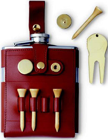 Leather Golf Flask