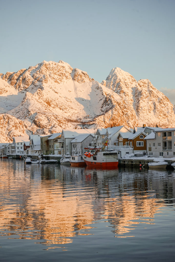 sunset over henningsvaer