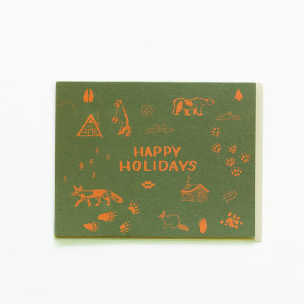 'Happy Holidays' Symbol Christmas Card