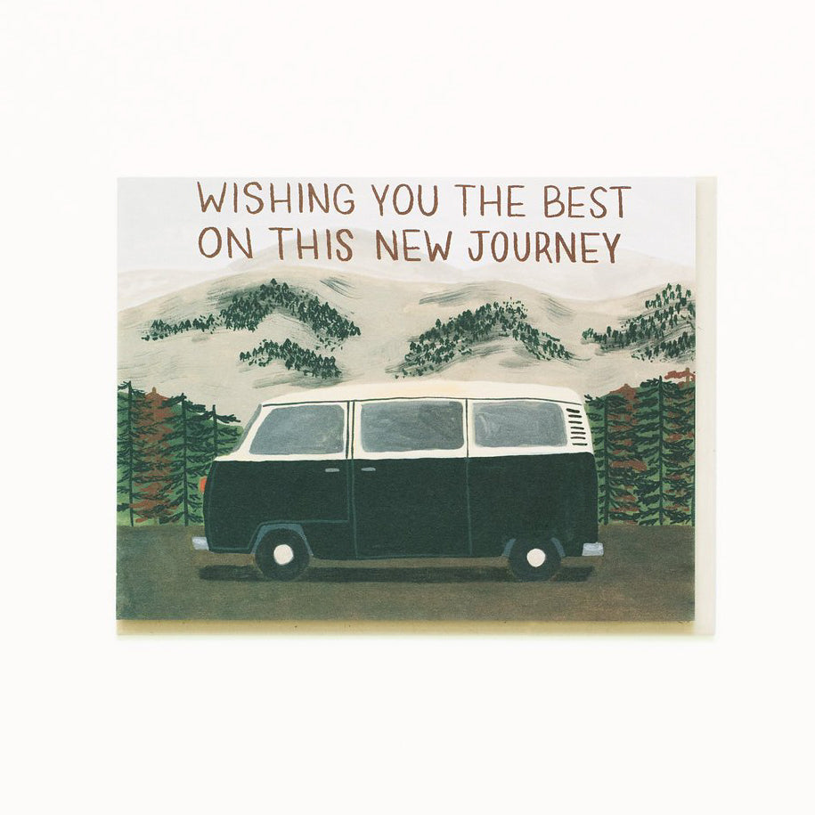 'New Journey' Greetings Card