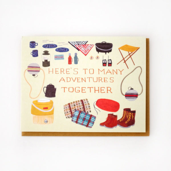 'Adventures Together' Greetings Card