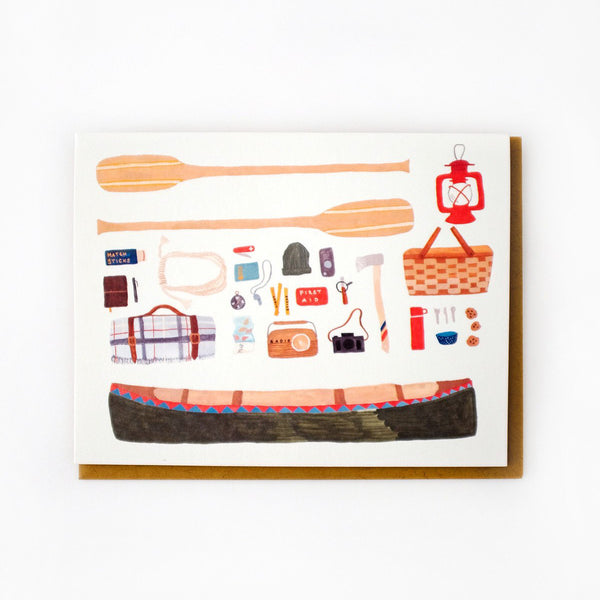 'Canoeing' Greetings Card