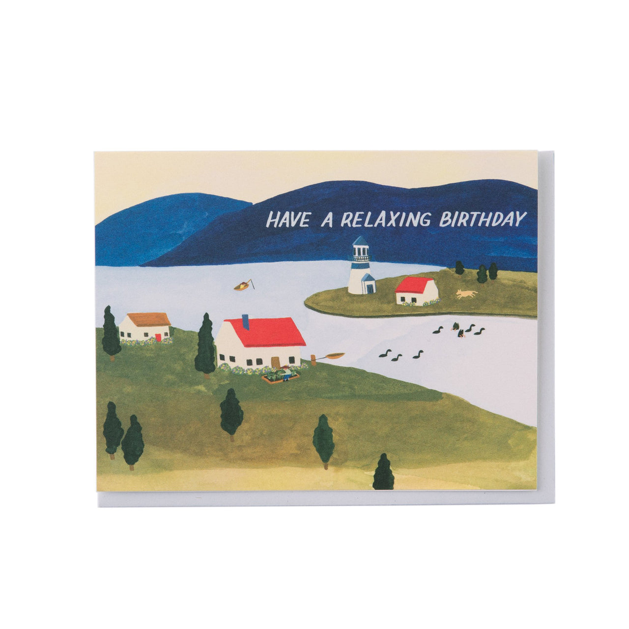 'Seaside Town' Greetings Card