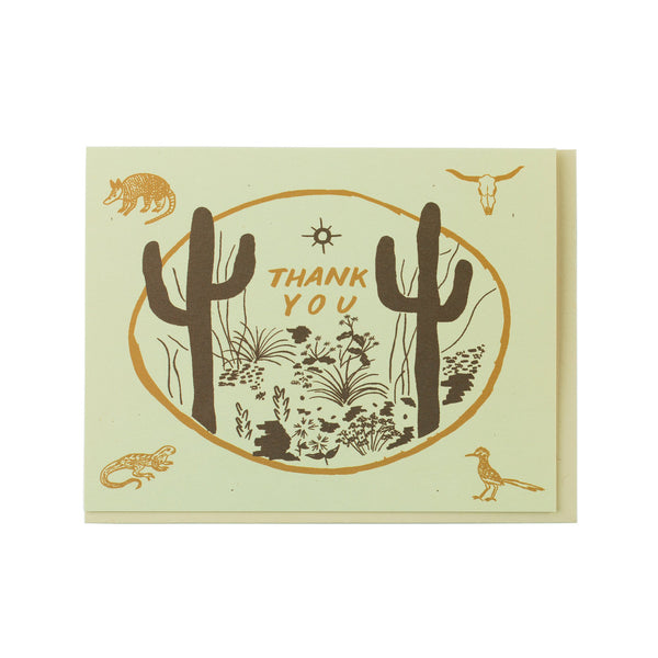 Sonoran 'Thank You' Greetings Card