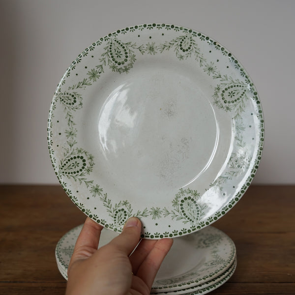 Set of 4 French Transferware Plates