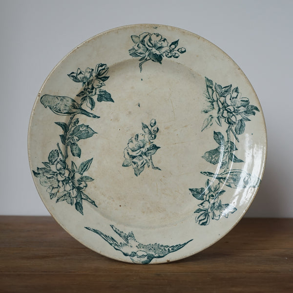 Antique French Transferware Plate