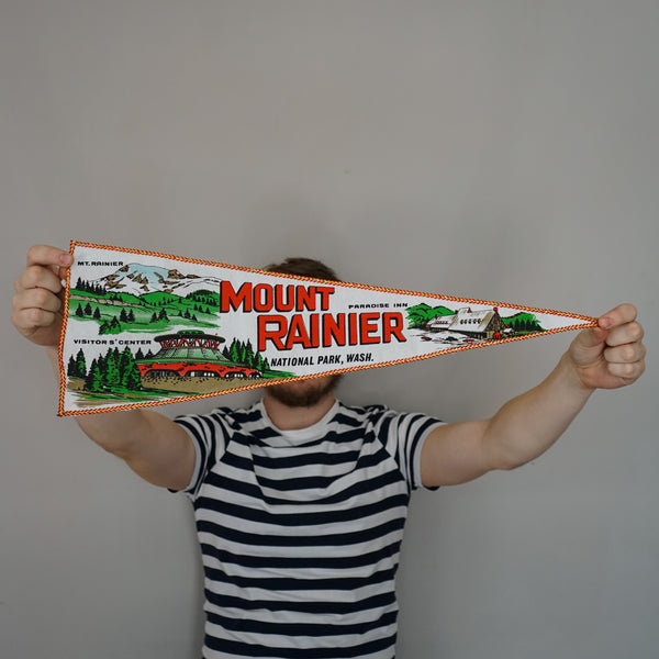 Vintage Pennant - Mount Rainier, Washington