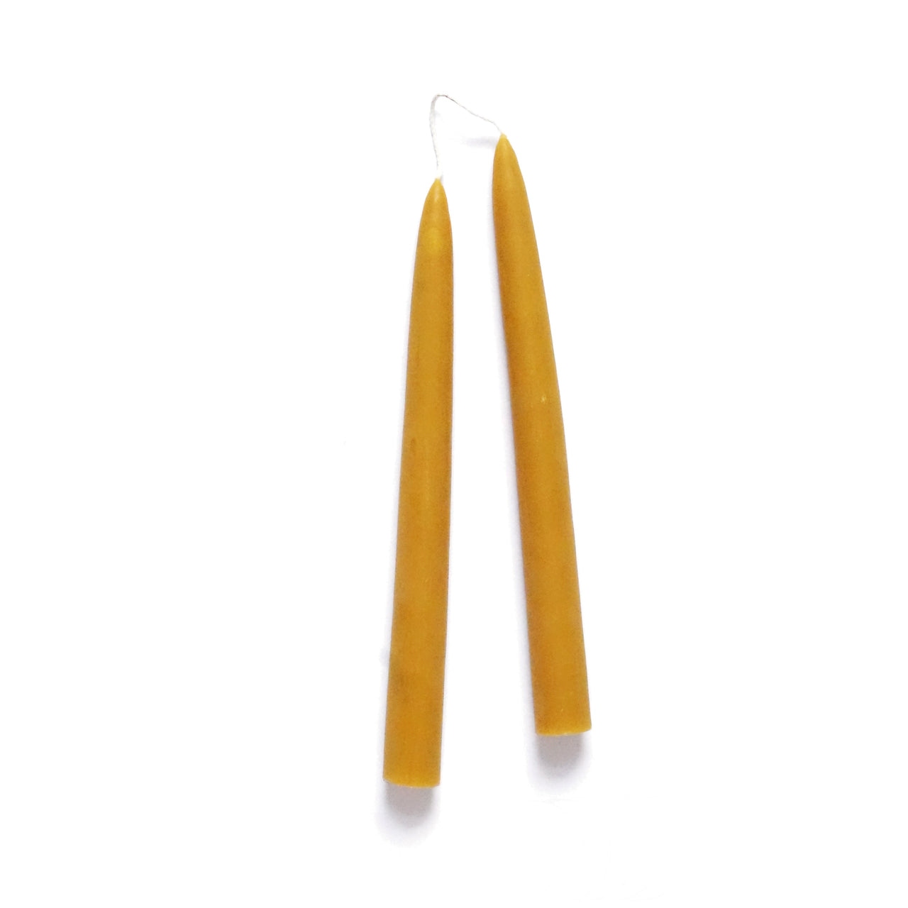 Pair of Hand Dipped Tall Beeswax Candles
