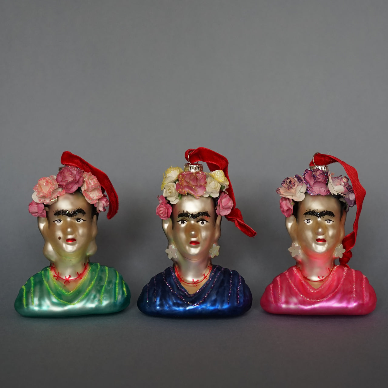 Frida Kahlo Glass Decorations