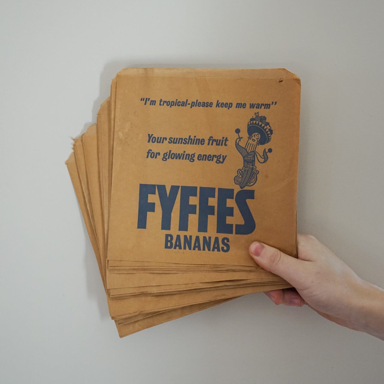 Unused 'Fyffes' Green Grocers Paper Bags