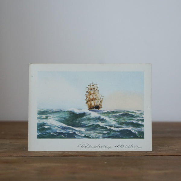 Vintage Birthday Wishes Ship Card