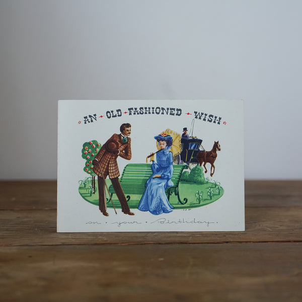 An Old Fashioned Wish Birthday Card