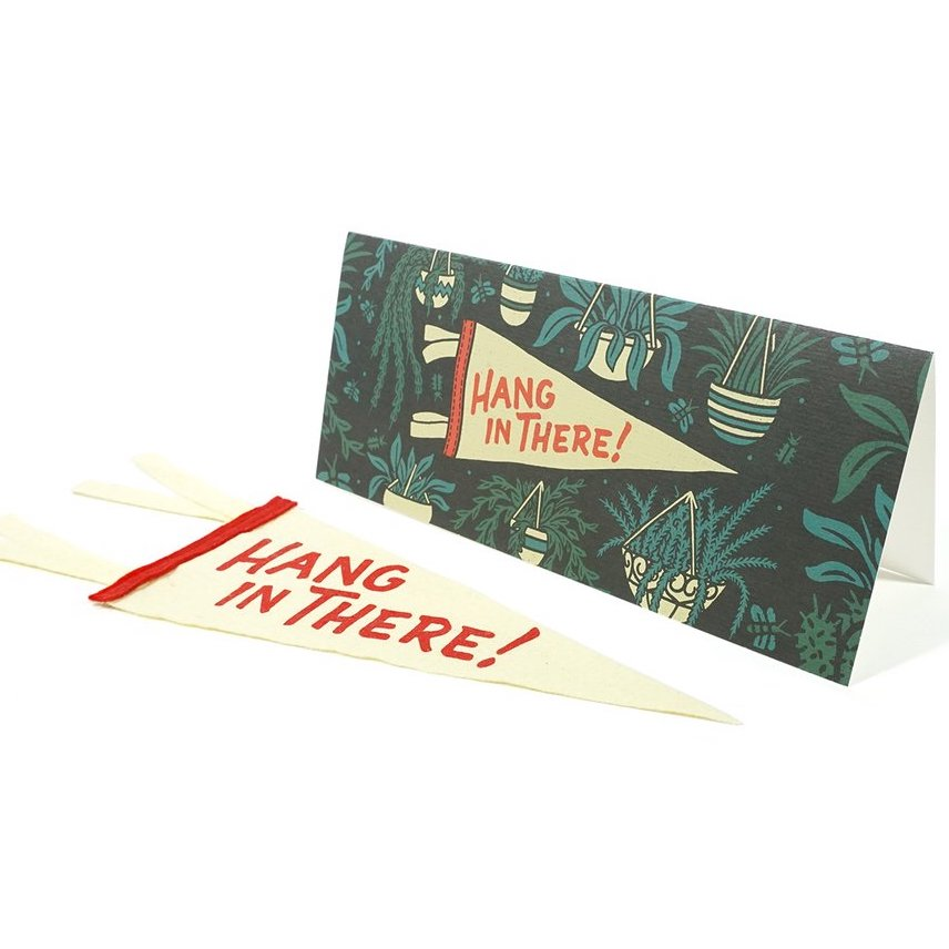 'Hang In There' Greeting card & Mini Pennant
