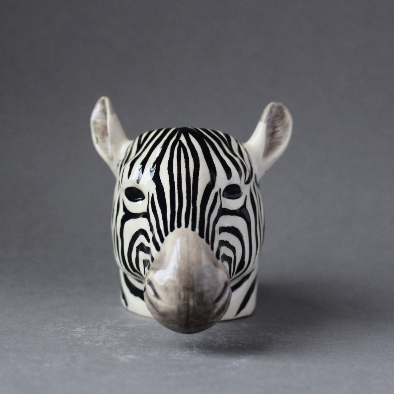 Quail 'Zebra' Ceramic Animal Egg Cup