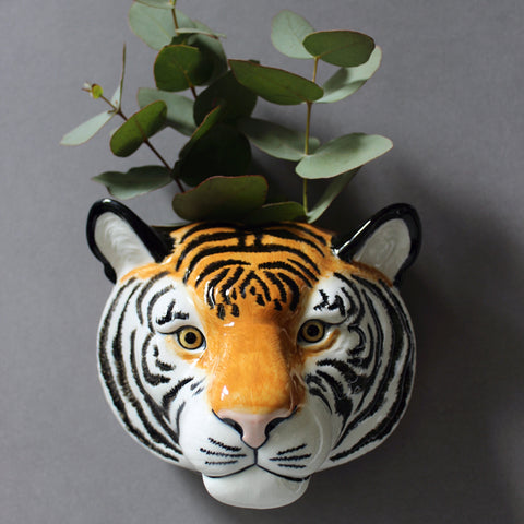 Quail Ceramic Tiger Wall Vase