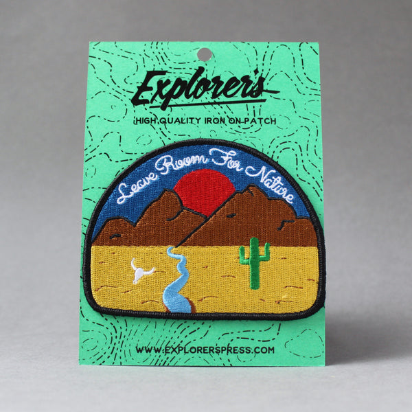 Explorers Press 'Leave Room For Nature' Patch