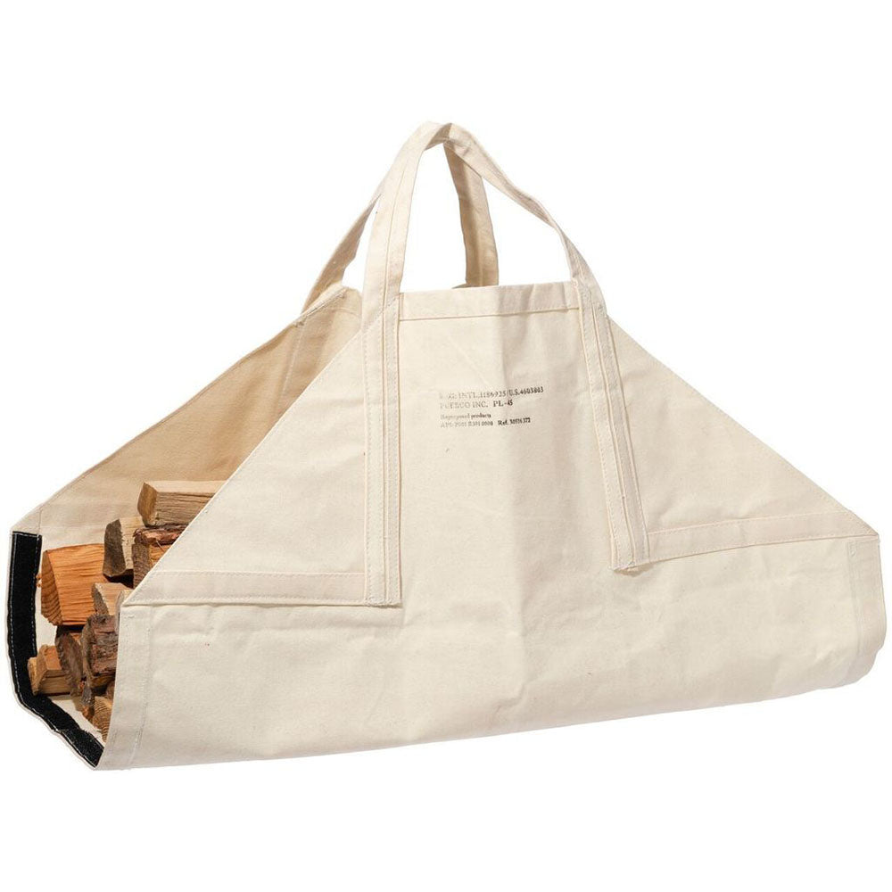 Puebco Waxed Cotton Firewood Carrier