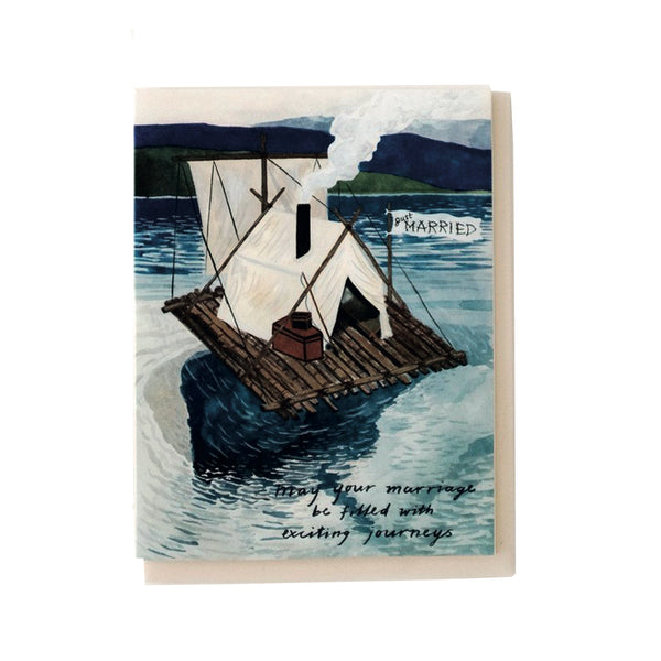 'Just Married' Raft Card
