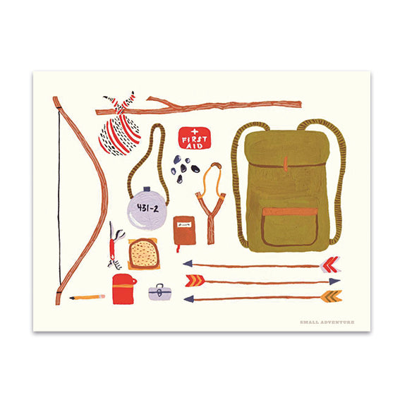 'Backpacking' Print