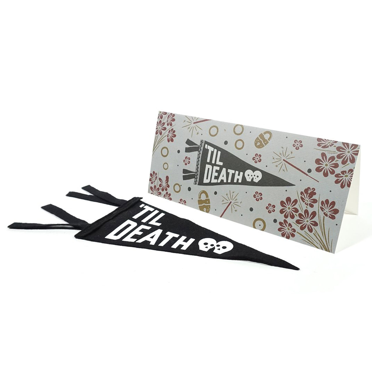 'Til Death' Greeting card & Mini Pennant