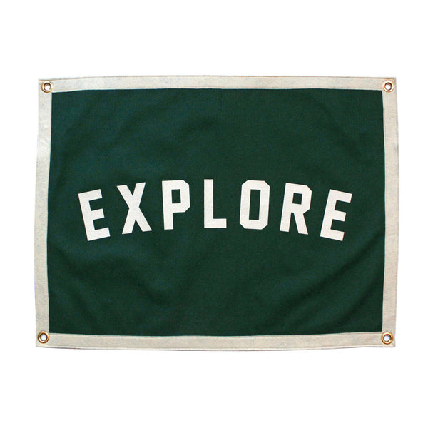 'Explore' Camp Flag