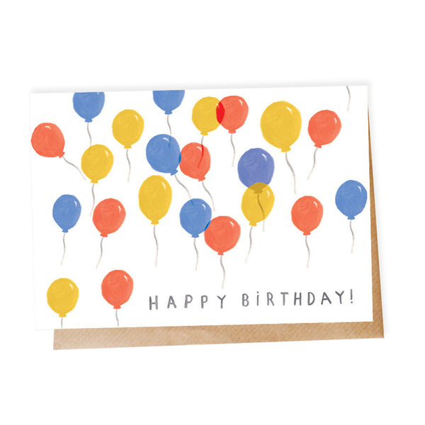 'Balloon' Happy Birthday Card