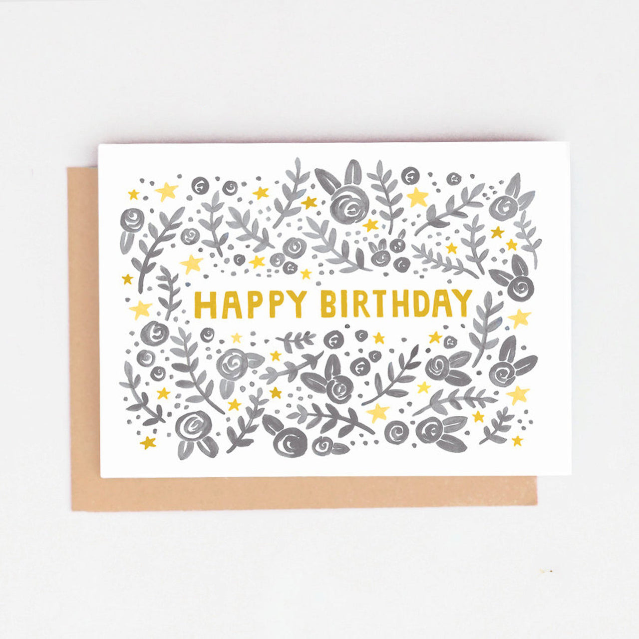 Floral 'Happy Birthday' Birthday Card
