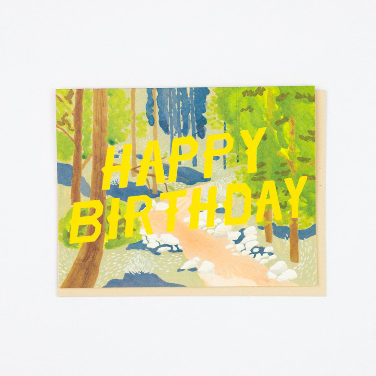 'Happy Birthday' Forest Greetings Card