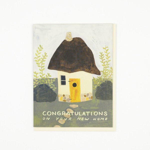'Cob House' New Home Greetings Card
