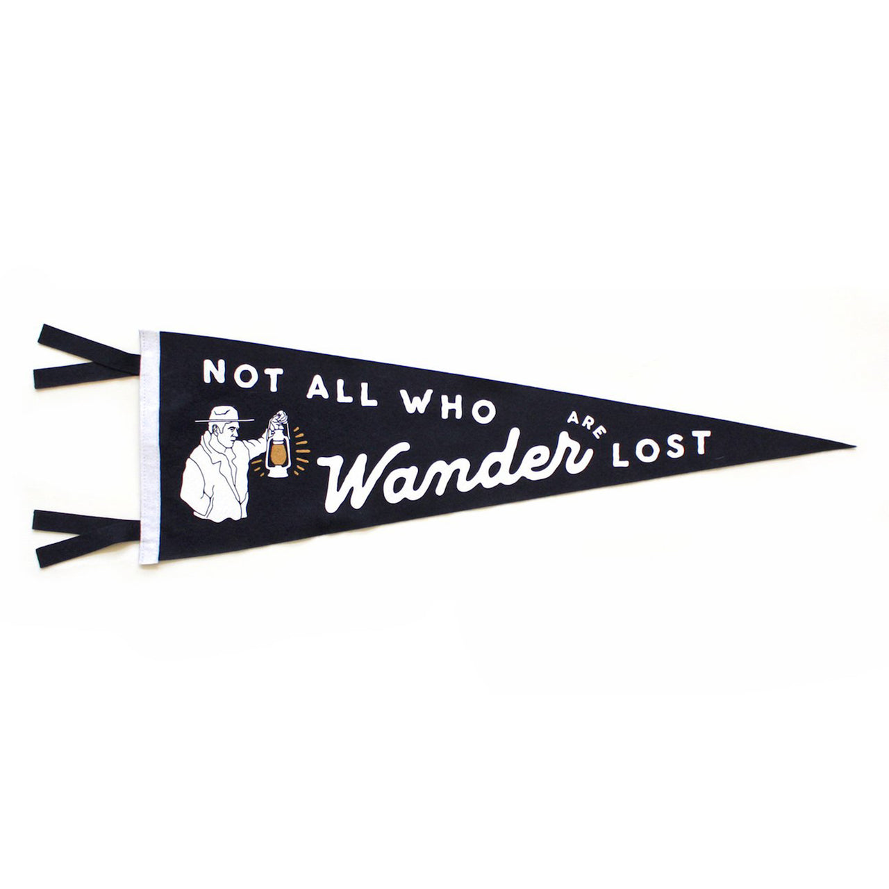 Oxford Pennant 'Not All Who Wander Are Lost' Pennant