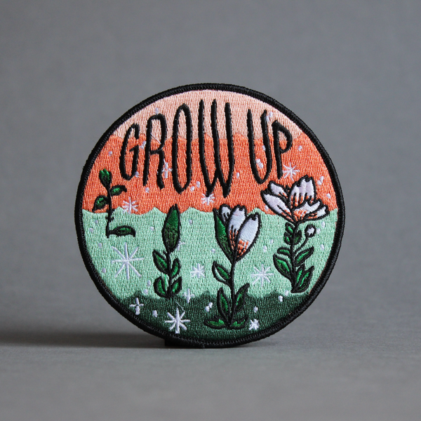 Stay Home Club 'Grow Up' Iron On Patch