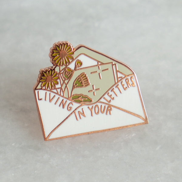 Stay Home Club 'Living In Your Letters' Lapel Pin
