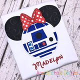R2D2 Star Wars Mouse Head Disney Shirt - Girls