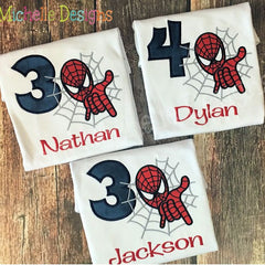 Spiderman Birthday Shirt - Boys
