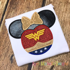 Wonder Woman Mouse Head Disney Shirt - Girls