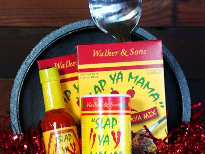 Large Black Pot Cajun Gift Set