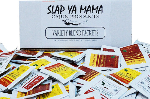 Slap Ya Mama Variety Blend Seasoning Packets - 100 Count Case