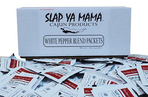 Slap Ya Mama - White Pepper Blend Seasoning Packets - 100 Count Case